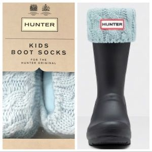 🆕 Kids Hunter Cable Knitted Cuff Tall Boot Socks